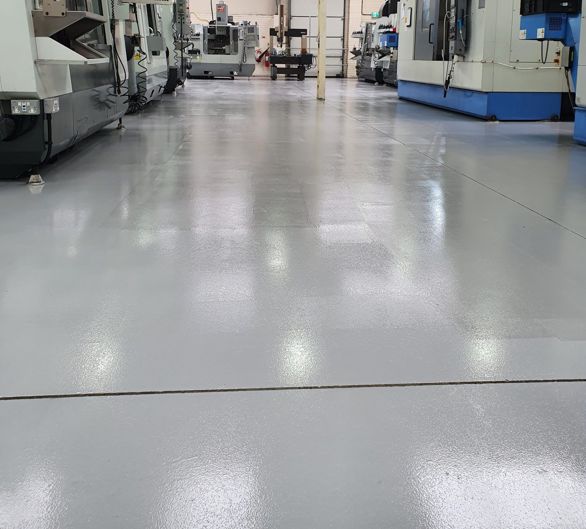 New floors and 5 S today for one of our milling sections.
